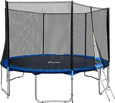 TecTake Cama elástica trampolín para Jardin con Red de Seguridad Escalera - Varias tamaños - (Ø 427cm | No. 401334): Amazon.es: Deportes y aire libre