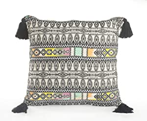 """LR Home Multicolored Eclectic Geometric Throw Pillow, 20"""" x 20"""", Multi"""