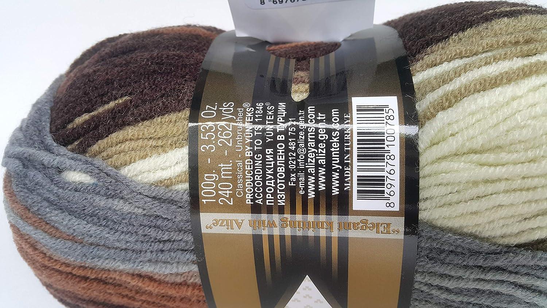 Alize 5 x 100 g Lanagold PREMIUM Wolle 49/%Wolle-51/%AcrylDenim Melange 203