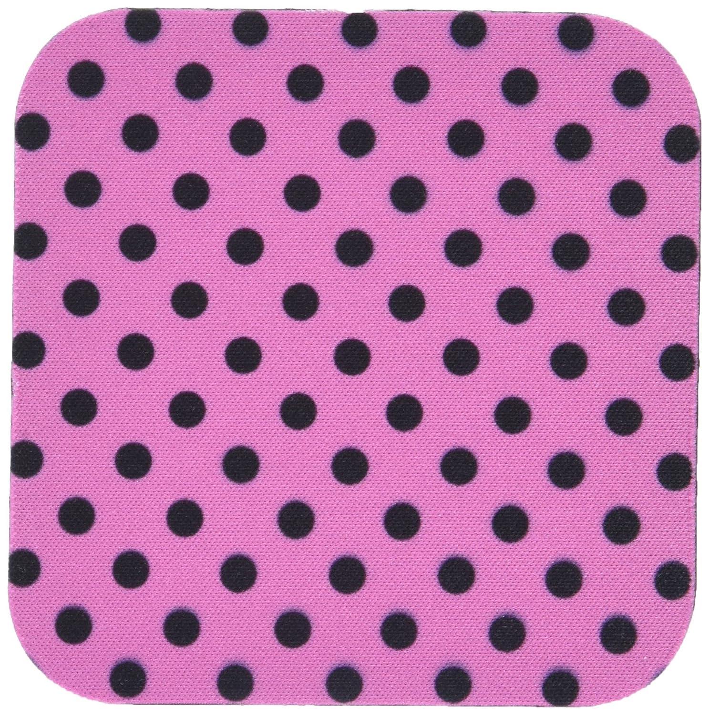 Set of 8 3dRose cst/_24705/_2 Hot Pink and Black Polka Dot Print-Soft Coasters