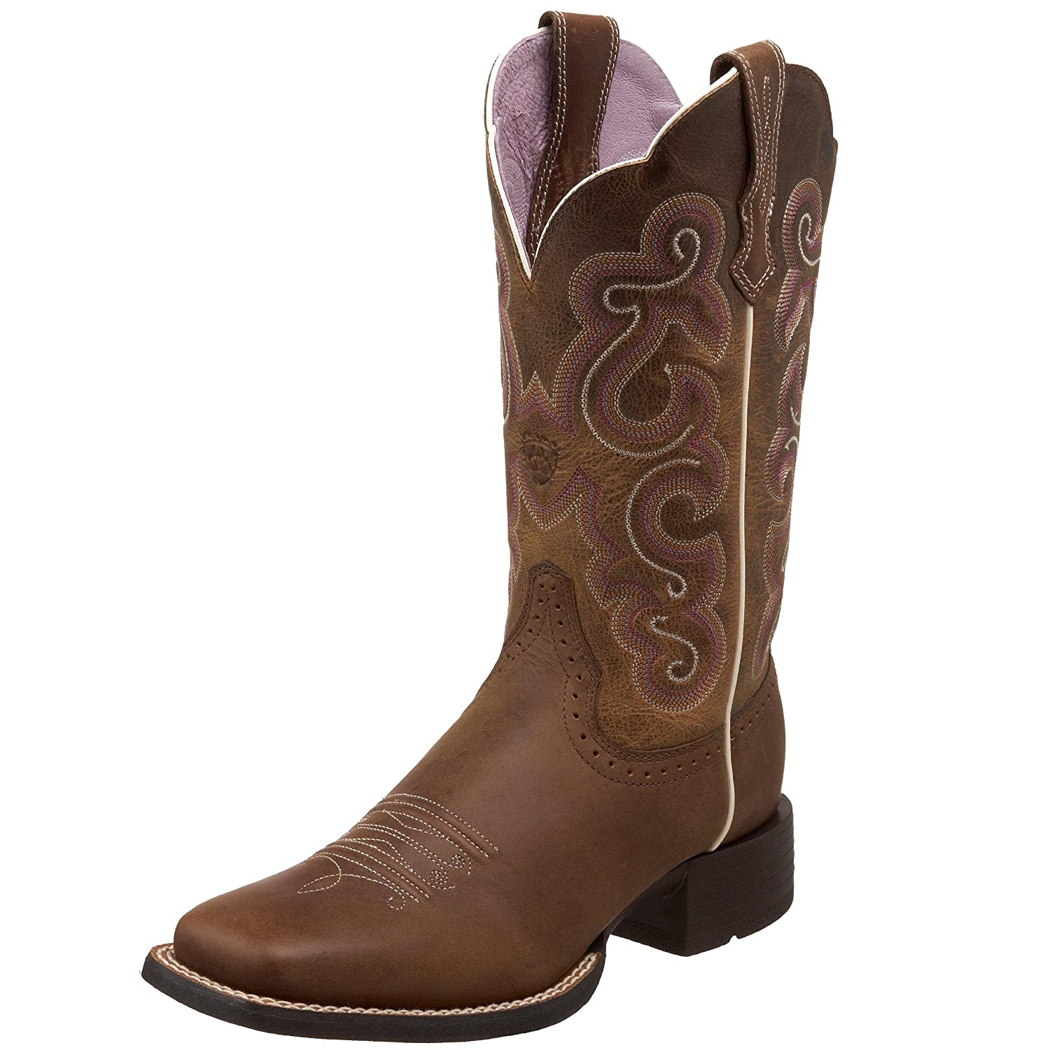 Ariat Women's Quickdraw Work Boot B0033WTAIK 8 B(M) US|Badlands Brown