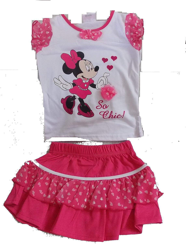 Conjunto falda/camiseta minnie Rosa Rose: Amazon.es: Ropa y accesorios