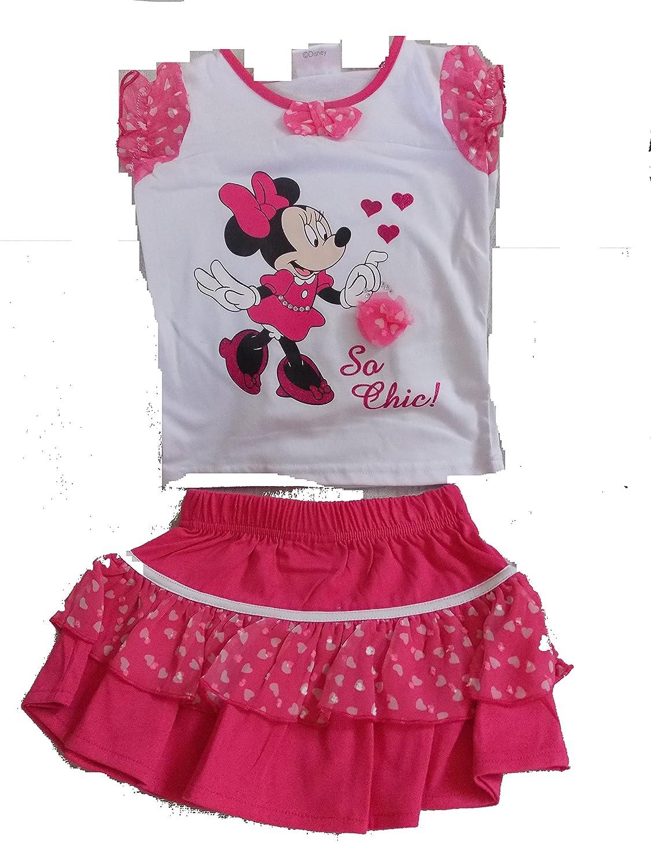 Minnie Conjunto Falda/Camiseta Rosa Rose: Amazon.es: Ropa y accesorios