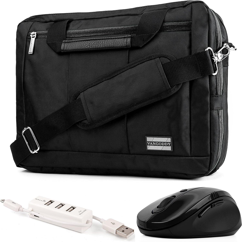 USB Hub for Asus ChromeBook VivoBook Mouse Transformer ZenBook 11 to 13.3 inch Convertible Laptop Bag Magenta