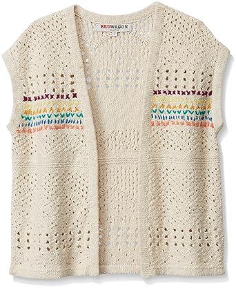 Red Wagon Girls Crochet Knit Sleeveless Cardigan Amazoncouk