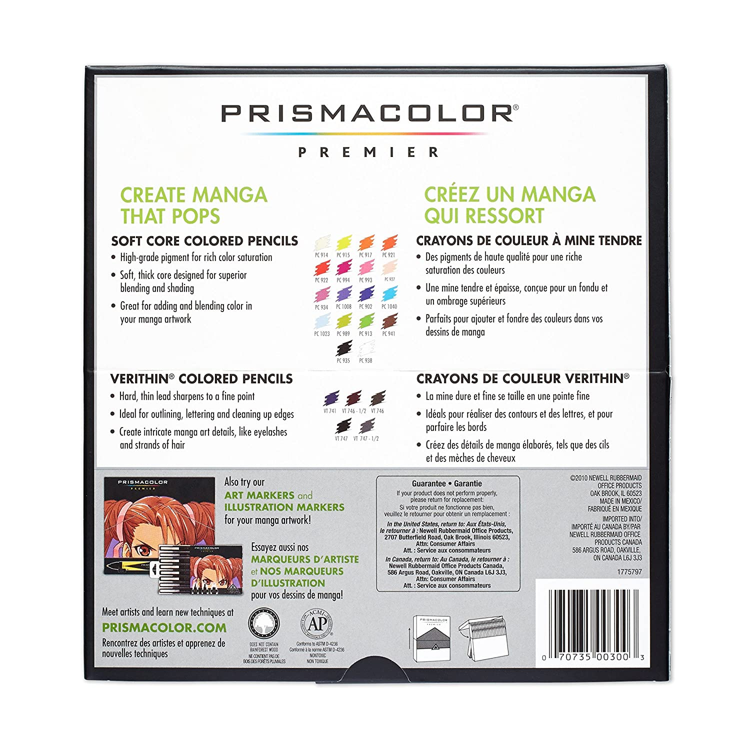 Prismacolor 1774800 premier colored pencil manga colours amazon prismacolor 1774800 premier colored pencil manga colours amazon office products nvjuhfo Image collections