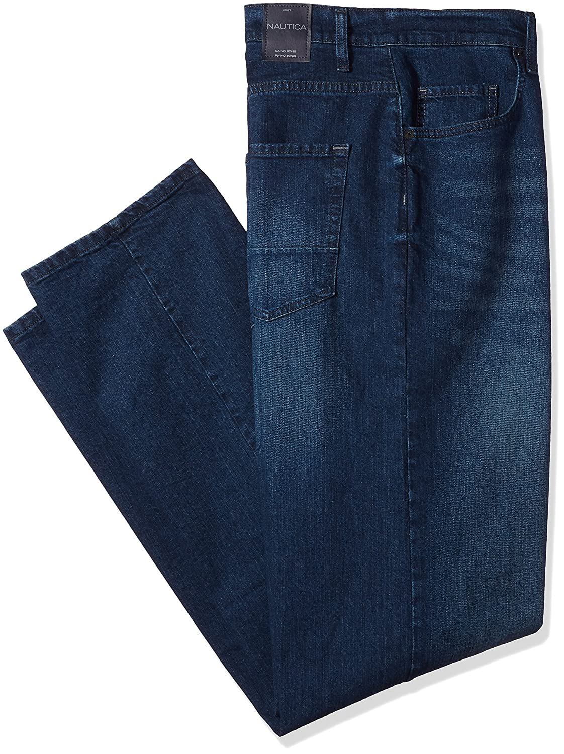 Nautica Mens Big and Tall 5 Pocket Relaxed Fit Stretch Jean