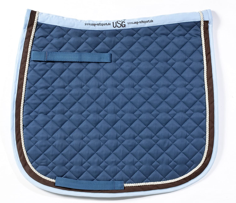USG General Purpose Quillted Saddle Cloth with Border, Pony, Petrol UNJFB 58963