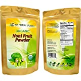 USDA Certified Organic Fresh Noni Fruit Powder - Superfood, Non-GMO, Raw, Pure, 73 servings (1 lb)