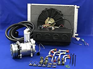 Coldmasterinc A/C KIT Universal UNDERDASH Evaporator Compressor 2A 432-000 12V W/Electrical Harness