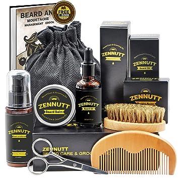 Ultimate Beard Care Kit for Men w/ Free Beard Conditioner & Beard Balm  Butter & Beard Oil & 100% Boar