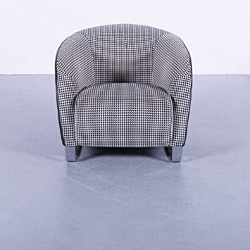 Amazonde Natuzzi Stoff Sessel Schwarz Weiß Leder Rücken