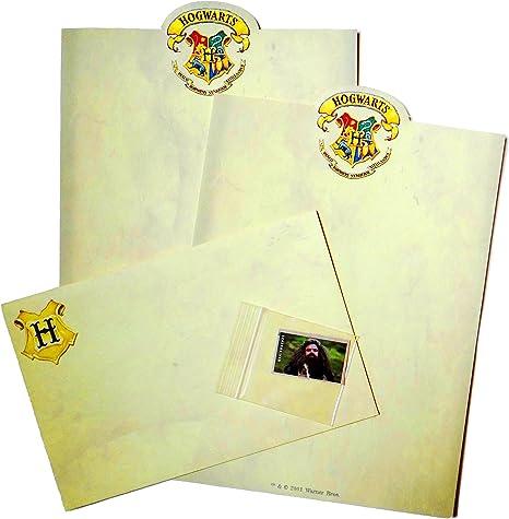 Hogwarts pergamino escribir cartas Kit: 2 hojas, 1 sobre, 1 Harry Potter USPS sello de correos: Amazon.es: Oficina y papelería