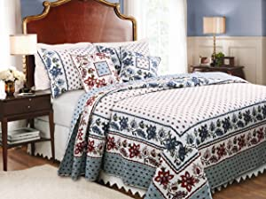 Greenland Home Fashions Madeline Quilt Set, Full/Queen