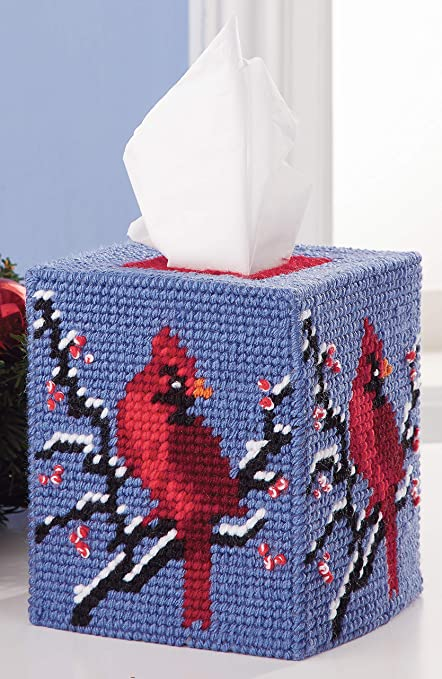 7 Count Mary Maxim 25612 Plastic Canvas Tissue Box Kit 5-Let It Snow