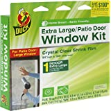 Duck Brand 282450 Indoor Extra Large Window/Patio Door Shrink Film Kit, 84-Inch x 120-Inch