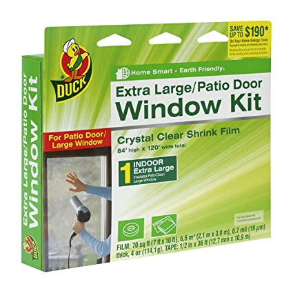 Amazon duck brand indoor extra large windowpatio door shrink duck brand indoor extra large windowpatio door shrink film kit 84 inch planetlyrics Images