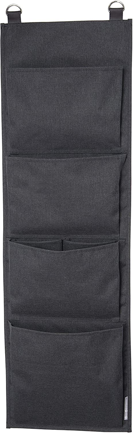 Bigso Soft Hang Up Storage Wall Organizer, Black
