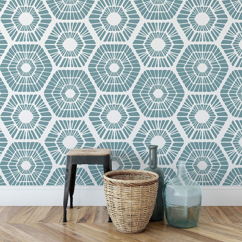 Scandinavian Geometric Pattern Wall Stencil Create DIY Scandinavian Geometric Pattern Wall Home Decor Reusable Stencils for Painting