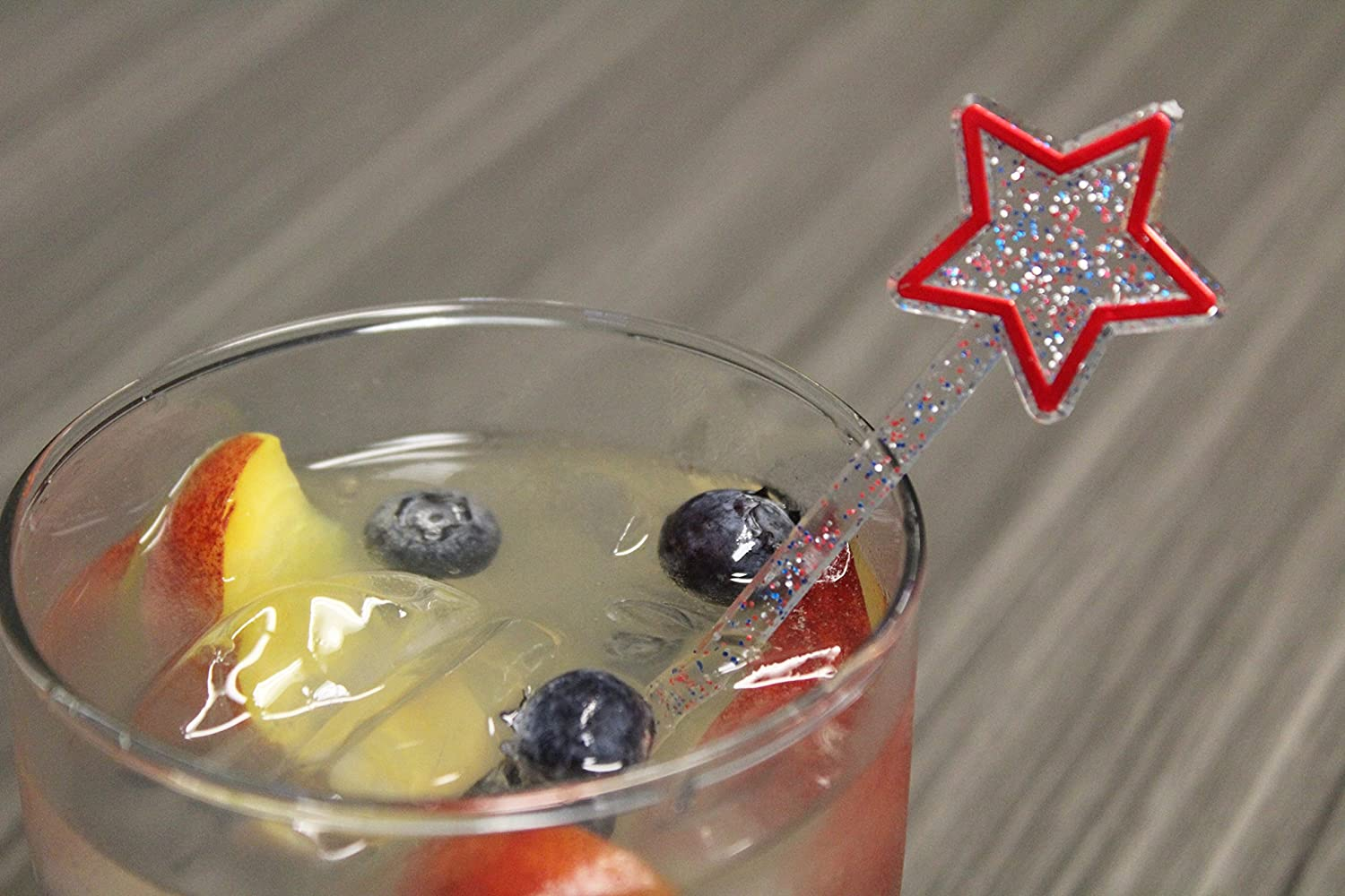 6 Patriotic Star USA Themed Swizzle Sticks Red, White, Blue Royer Corporation D92-6RWB 24 ct Made in USA