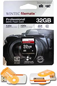 32GB Class 10 SDHC High Speed Memory Card For CANON EOS REBEL T3 and T3i. Perfect for high-speed continuous shooting and filming in HD. Comes with Hot Deals 4 Less All In One Swivel USB card reader and.