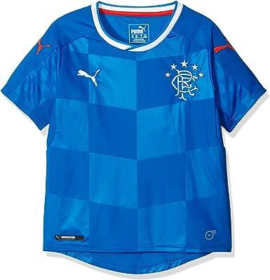 PUMA Camiseta de casa del Club de fútbol Rangers, réplica, para niños 16-17: Amazon.es: Deportes y aire libre