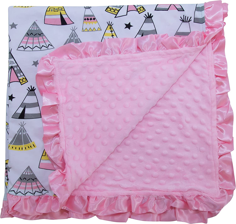 JLIKA Baby Blanket for Girls Swaddle Newborn Receiving Blankets Floral Deer