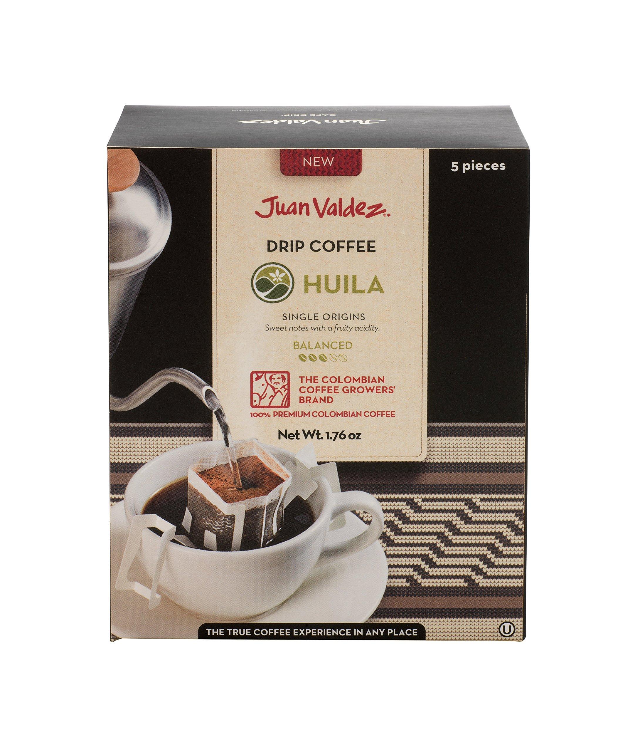 Juan Valdez Balanced Huila Drip Coffee, 50 Gram (Pack of 6)
