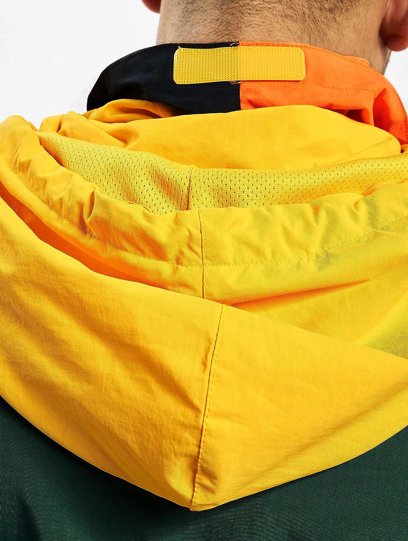 Naranja y Amarillo Azul Color Verde Karl Kani Retro Block Cortavientos