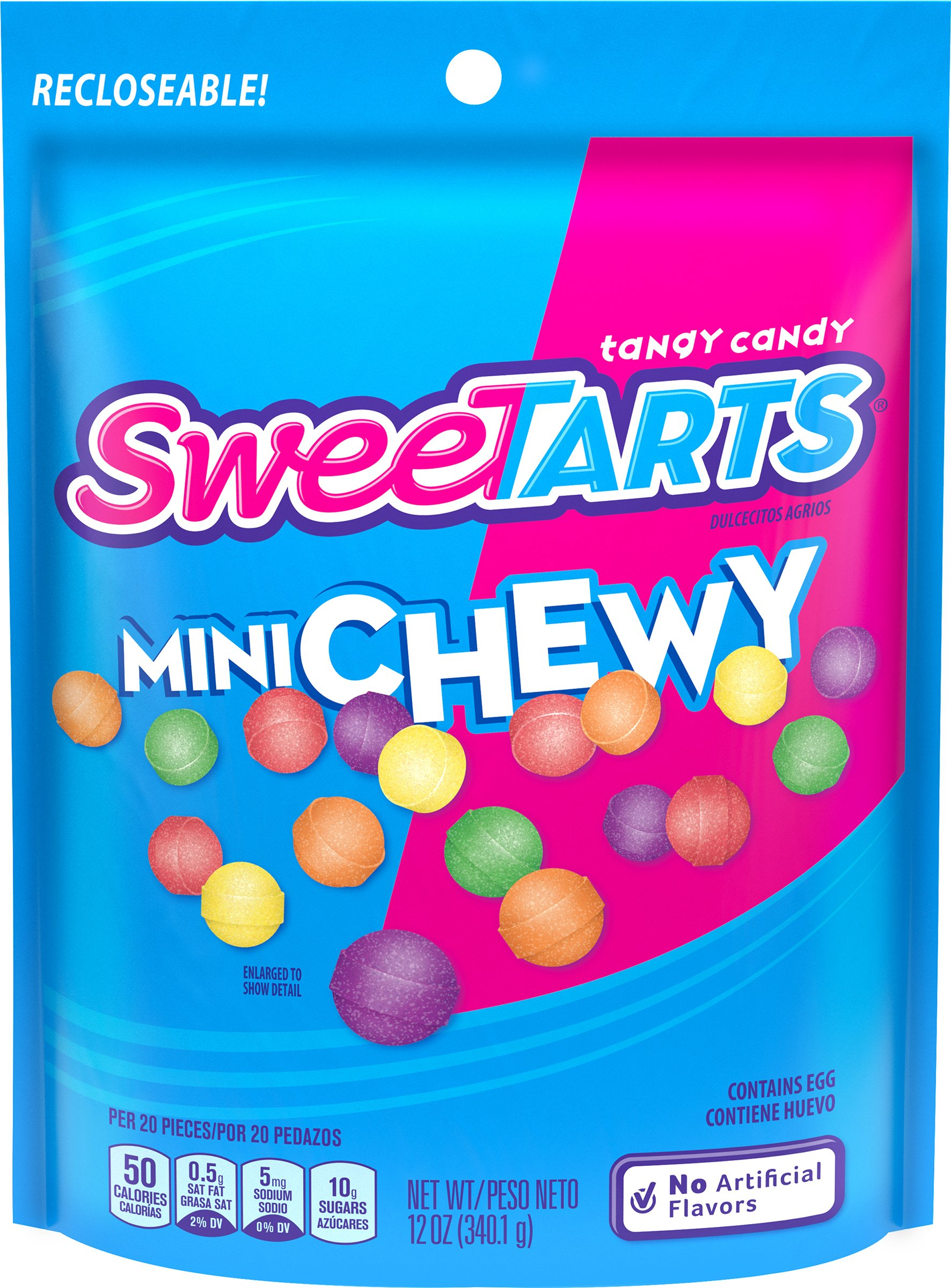 SweeTARTS Mini Chewy Candy Resealable Bag, 12 Ounce (Pack of 12)