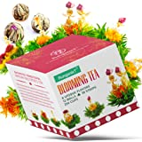 Blooming Green Tea Set of 12 Balls , 6 Naturally Flavored Flower Teas Total 36 Steeps & 250 Cups - Artisan Hand-Tied…