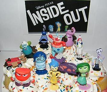 Amazoncom Disney Pixar Inside Out Movie Figure Set Cake Toppers