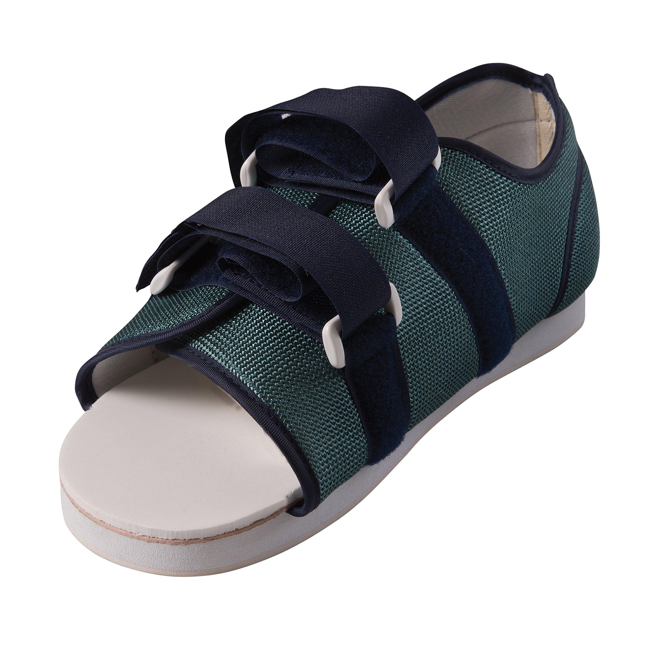 MABIS DMI Healthcare Mesh Post-Op Cast Shoe, Lightweight Shoe with Adjustable Straps for Custom Fit, Men's Medium,9-11, Blue