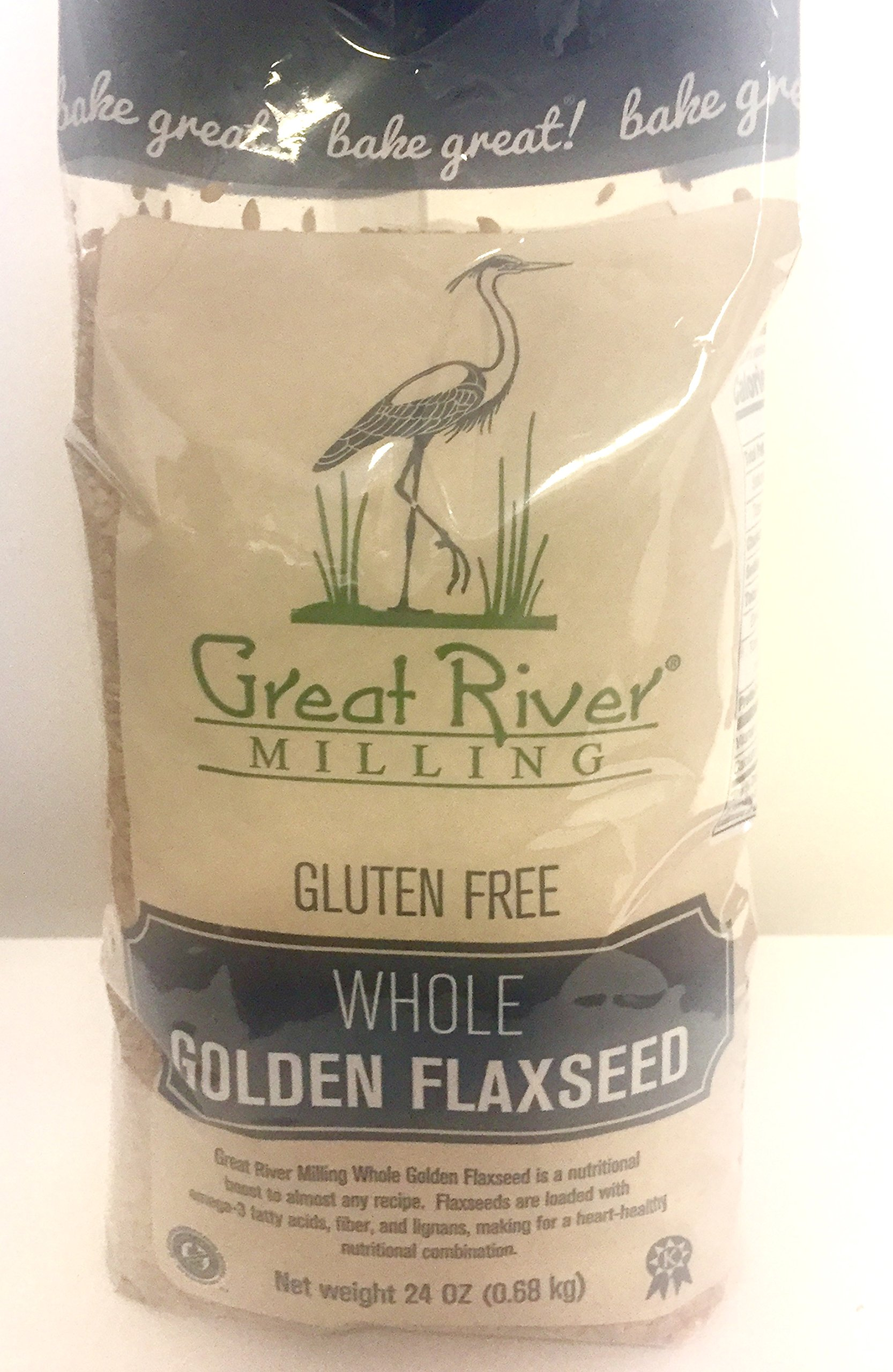 Great River Milling Raw Whole Golden Flaxseed, 24 Ounce (Pack of 4)
