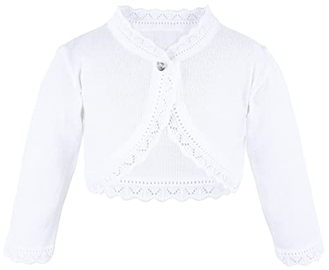 Amazon.com: Lilax Little Girls' Knit Long Sleeve Button Closure ...