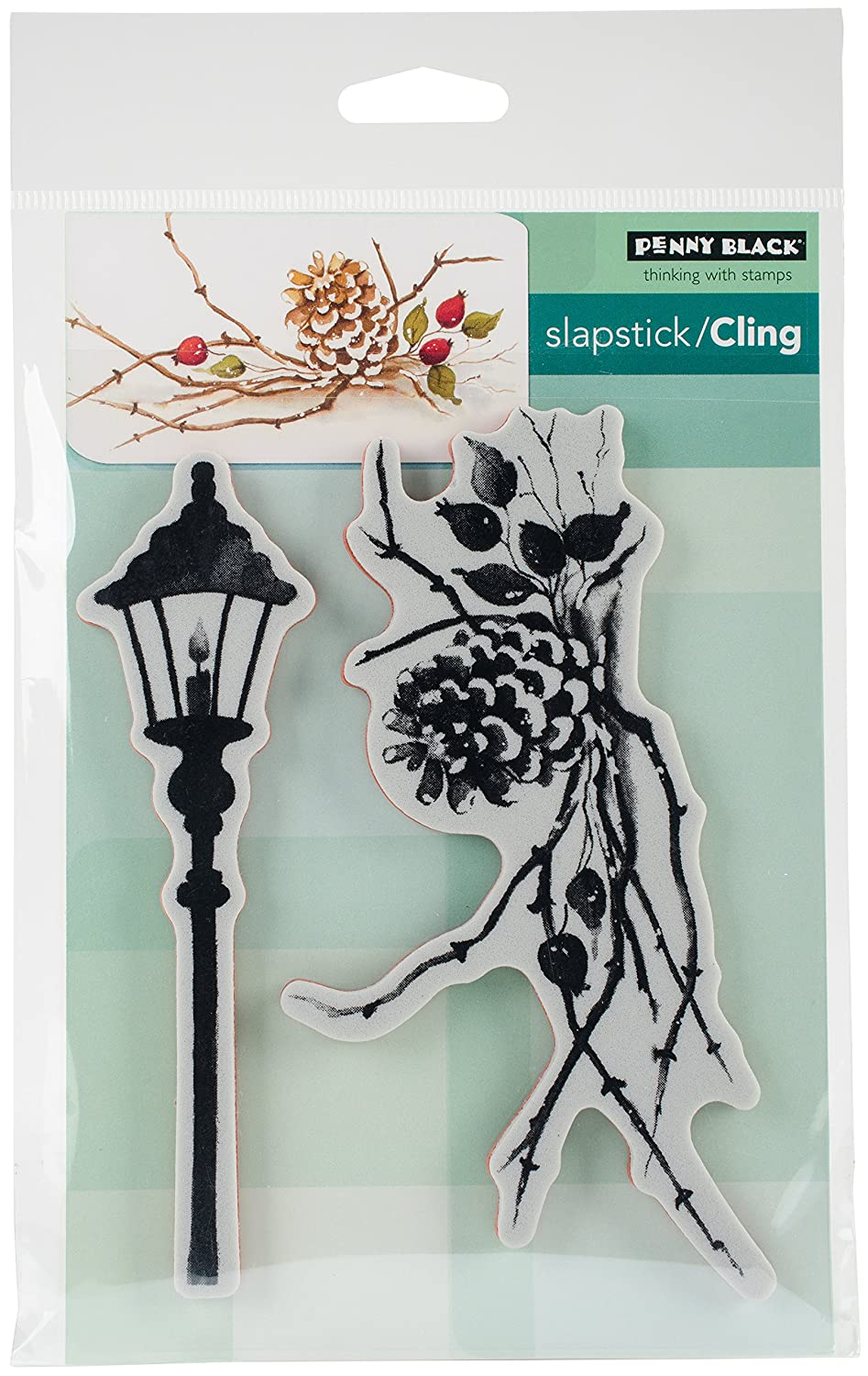 Penny Black Cones & Berries Cling Stamps, 5X7 5X7 40-495