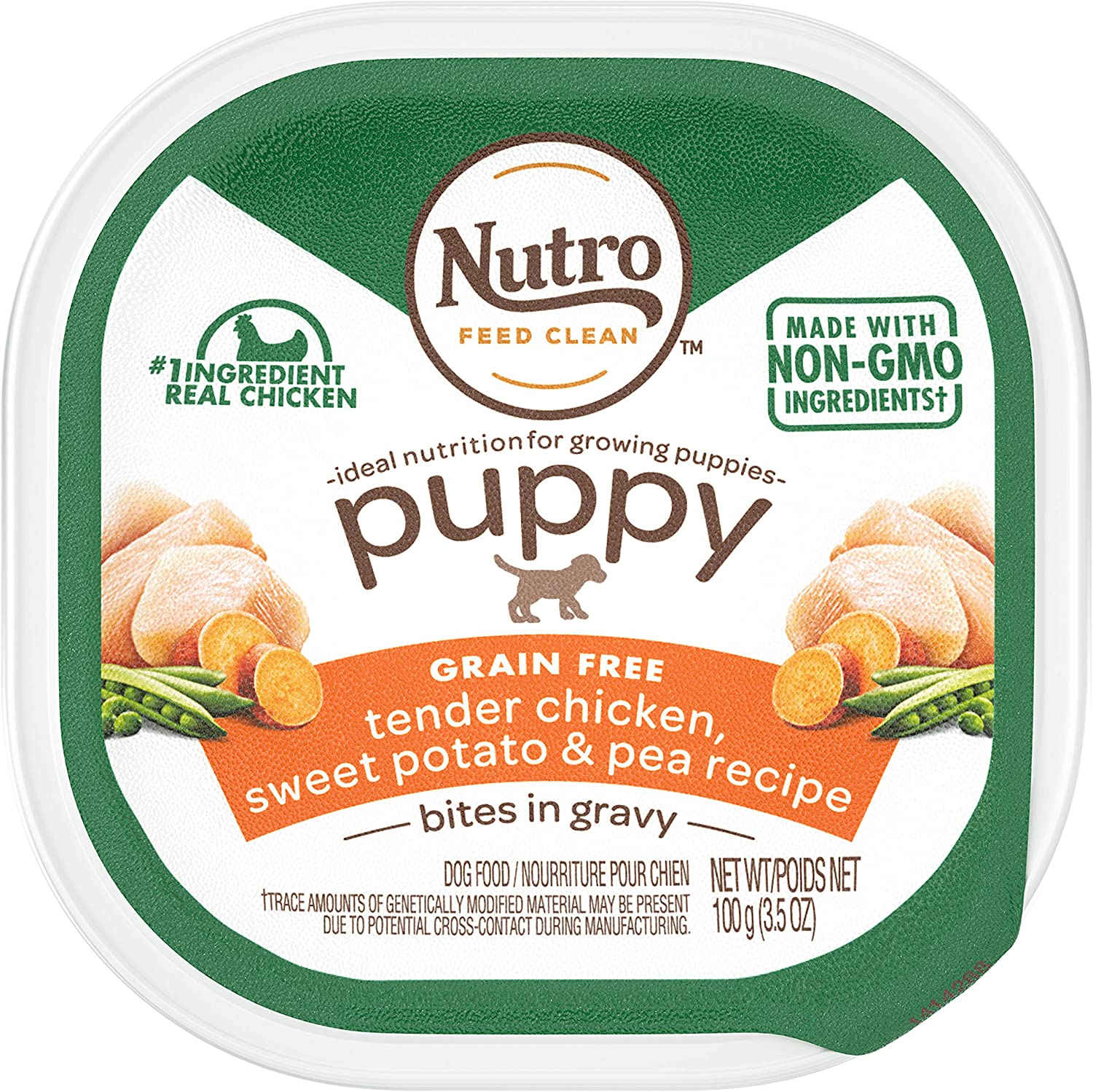 Nutro Wet Dog Food, Chicken, Sweet Potato & Pea Recipe for Puppy