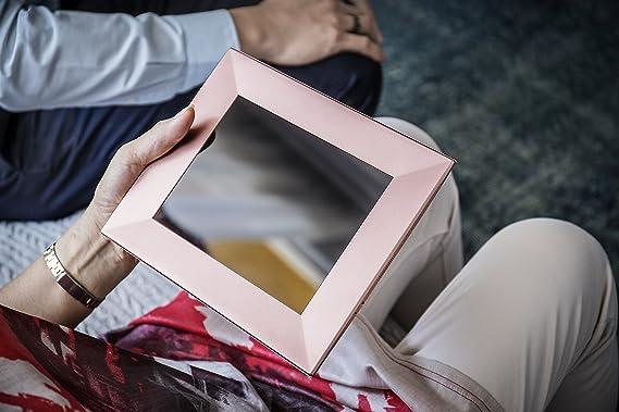 NIXPLAY Iris Marco Digital WiFi 8 Pulgadas W08E Plateado. USA la Aplicación para Enviar Fotos y Videos al Marco al Instante. Integración con Redes Sociales.