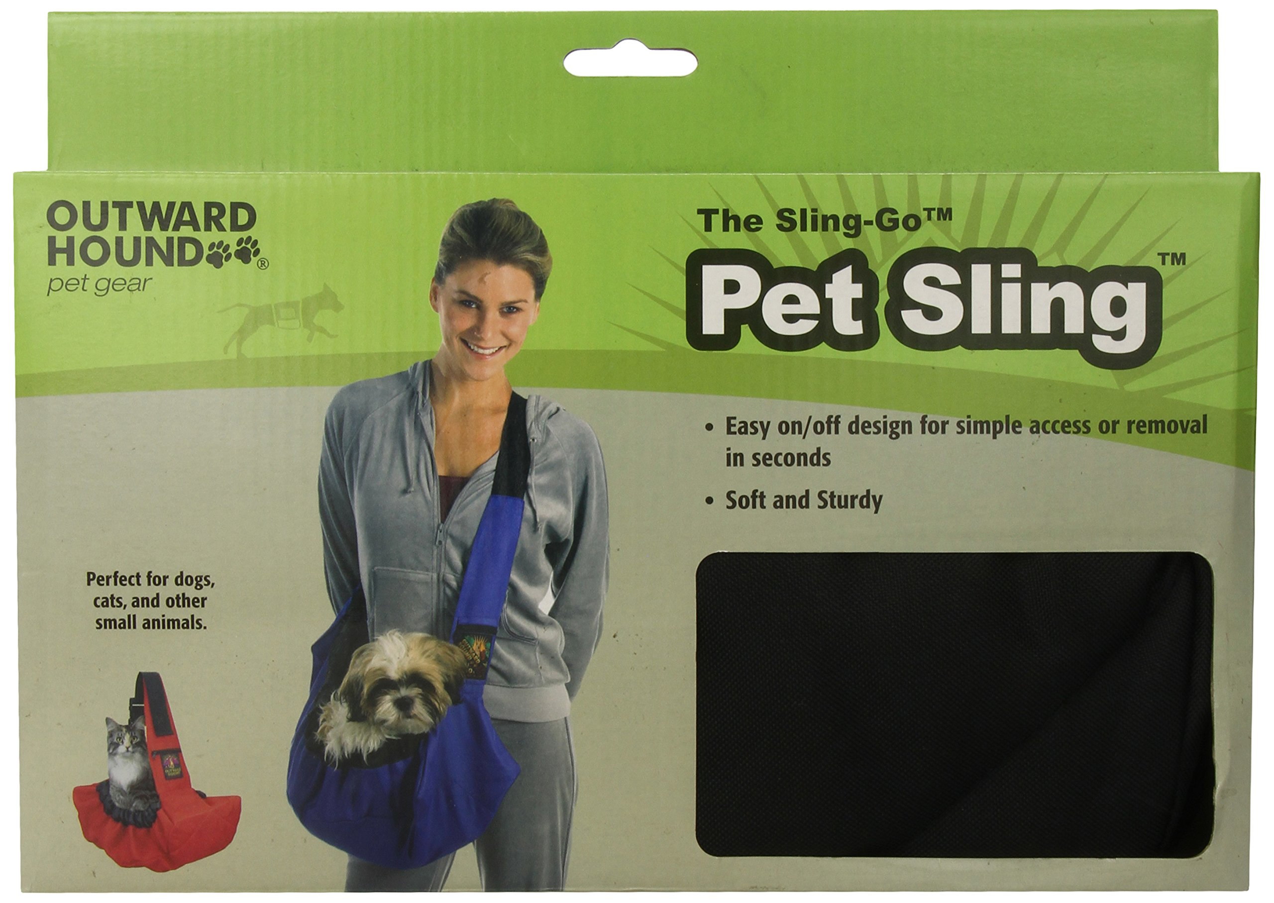 Kyjen Sling Go Pet Sling in Black