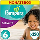 Pampers Premium Protection Active Fit Windeln, Gr. 6 Extra Large (ab 15 kg), Monatsbox, 1er Pack (1 x 120 Stück)