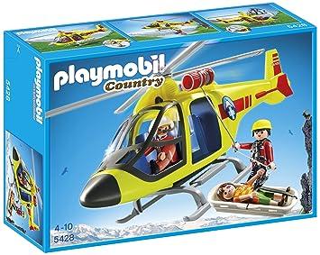 Figurine De 5428 Playmobil Secours En Montagne Hélicoptère UMpGzqSV