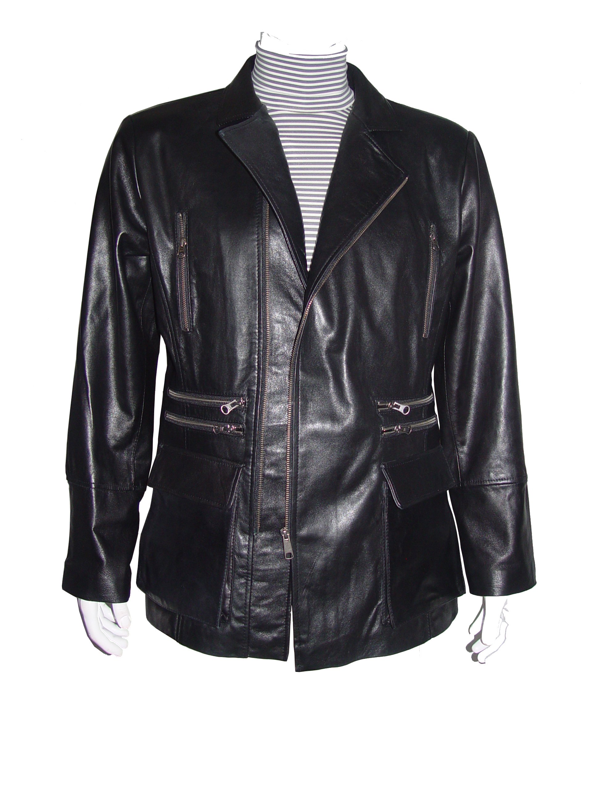 Nettailor Mens 1114 FOUR Season Wearable Leather Fancy Casual Blazer