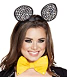 Adult Women's Bling Mouse Rave Ears Headband Party Costume Accessory