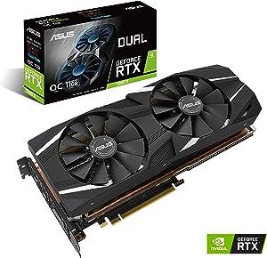 ASUS GeForce RTX 2080 Ti O11G Dual-fan OC Edition GDDR6 HDMI DP 1.4 USB Type-C graphics card (DUAL-RTX2080TI-O11G)