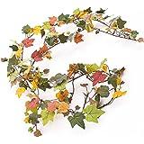 Ghirlanda d'edera artificiale con ca. 200 foglie color verde autunnale, 180 cm - Pianta artificiale / Ghirlanda verde - artplants