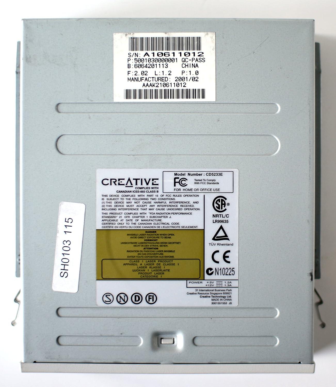 5001030000001 QC-PASS 2001//02 CD5233E 52Xmx CD-ROM DRIVE