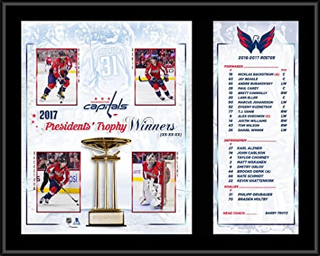 Image Unavailable. Image not available for. Color  Washington Capitals  12 quot  x 15 quot  2016-17 Presidents  Trophy ... e839a525474f