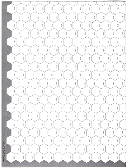 Amazoncom Gmt Seven 7 Pack Of Blank Hex Maps With 16mm 12