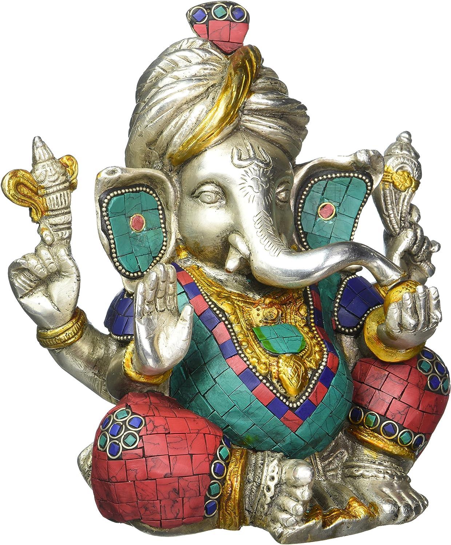 Safa Ganesh Statue Hindu God Figurine Brass Sculpture Ganesha Idol Home Decor Gift