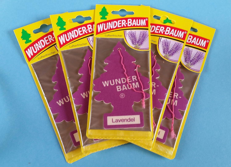 5 X Original Wunderbaum Lufterfrischer Lavendel Auto